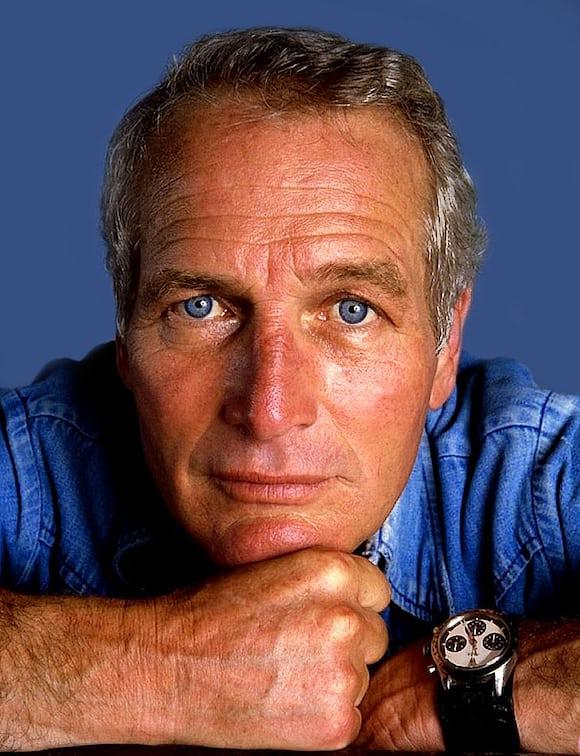 Paul Newman wearing a Rolex Daytona