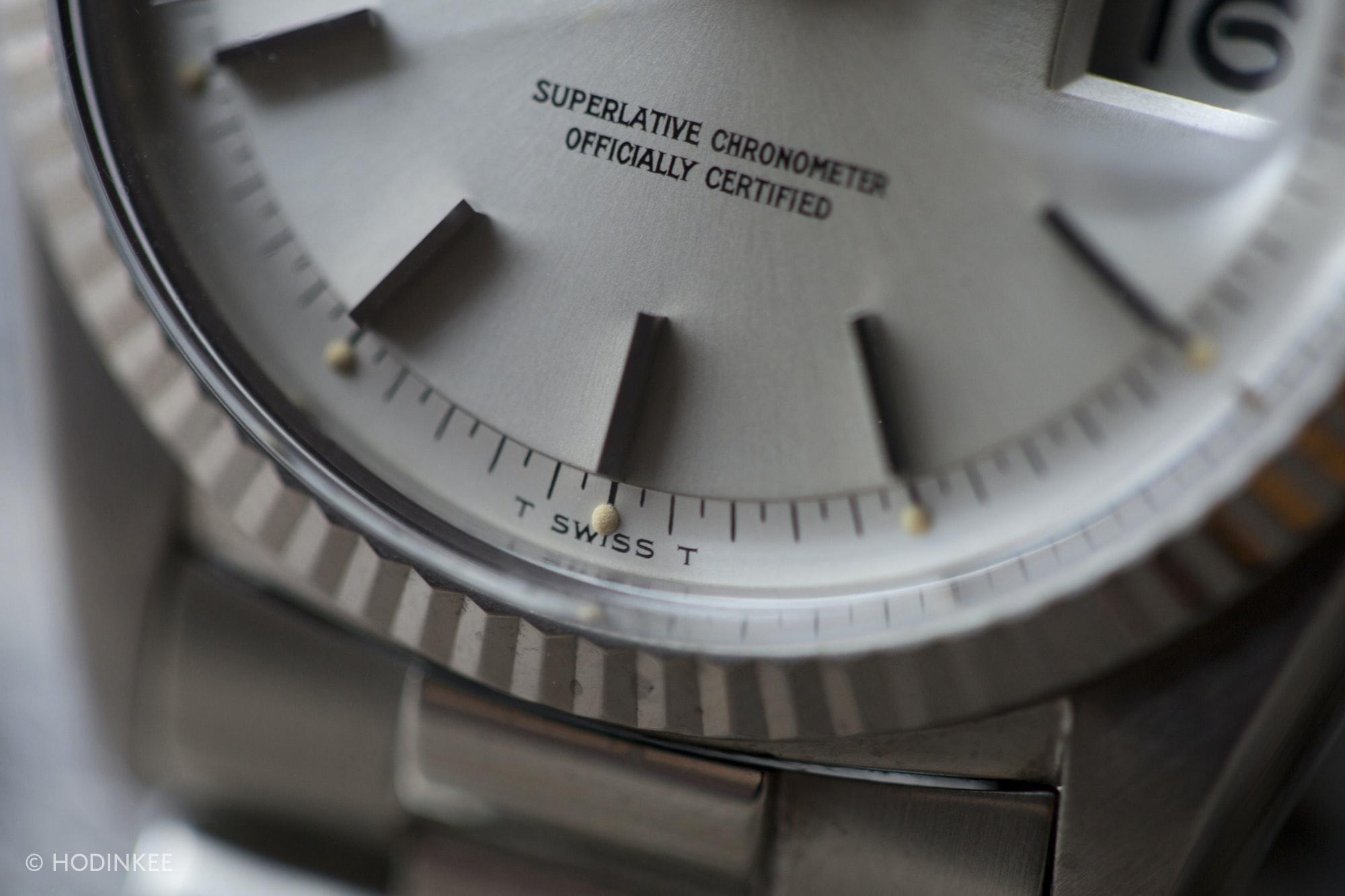 Vintage Rolex Dial details