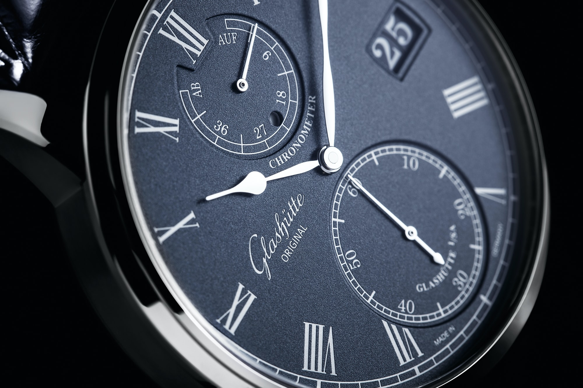 Glashutte Original Senator Chronometer Introducing: The New Glashutte Original Senator Chronometer, With A Dark Blue Dial Introducing: The New Glashutte Original Senator Chronometer, With A Dark Blue Dial 4