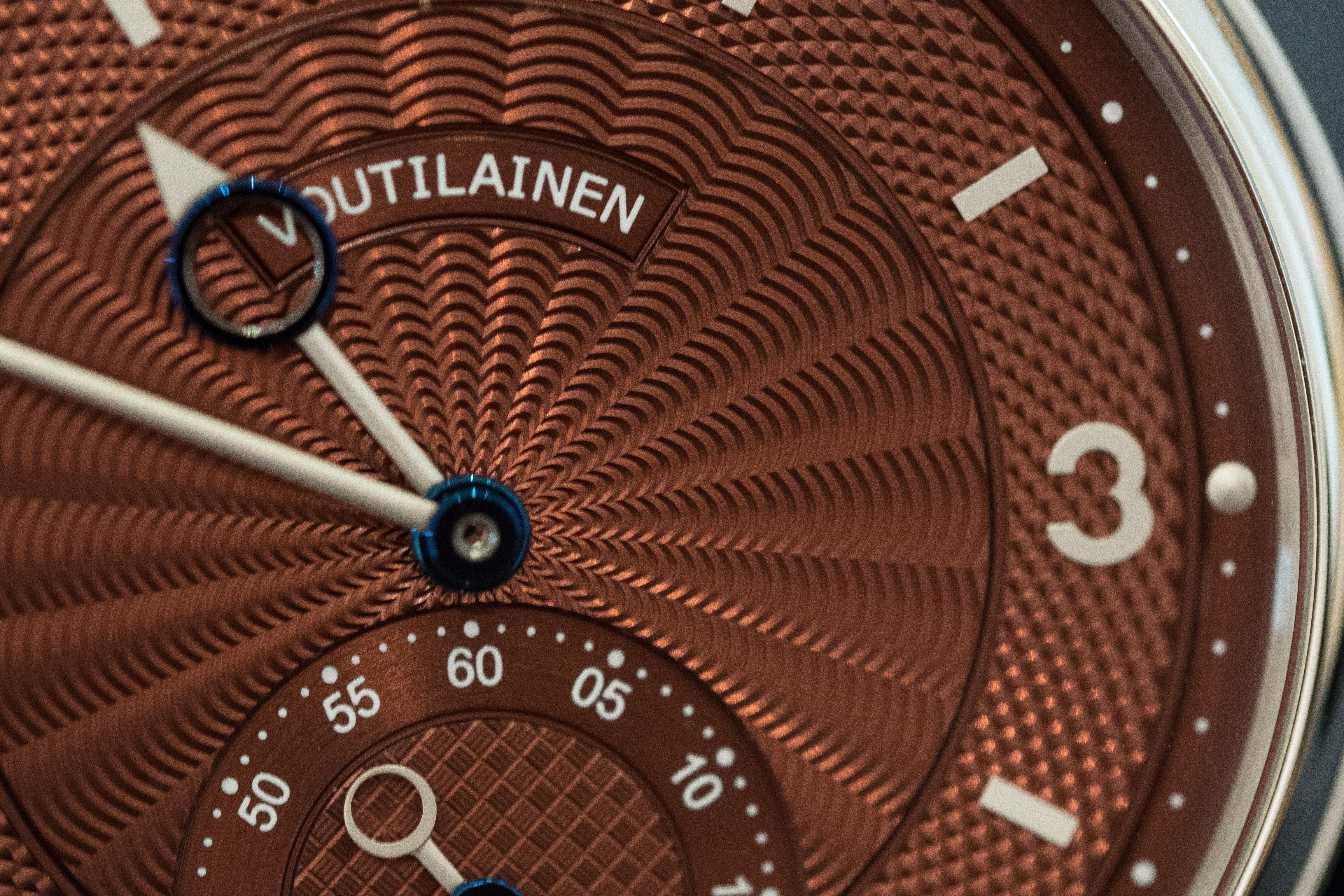 Voutilainen Vingt-8 guilloche Hands-On: Kari Voutilainen's Unique Platinum GMT-6 And Burgundy Dial Vingt-8 Hands-On: Kari Voutilainen's Unique Platinum GMT-6 And Burgundy Dial Vingt-8 P1200431