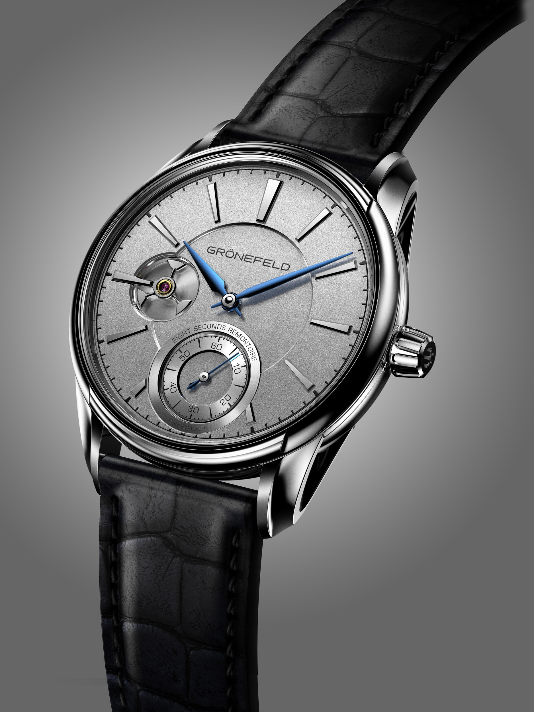Introducing: The Grnefeld 1941 Remontoire, Inspired By A Church Clock In The Grnefeld Family's Care For Two Generations Introducing: The Grnefeld 1941 Remontoire, Inspired By A Church Clock In The Grnefeld Family's Care For Two Generations 6 Remontoire WG Front View