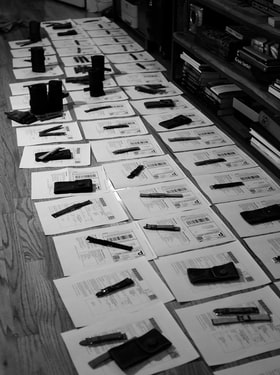 The first batch of HODINKEE Straps get packaged up on my living room floor.