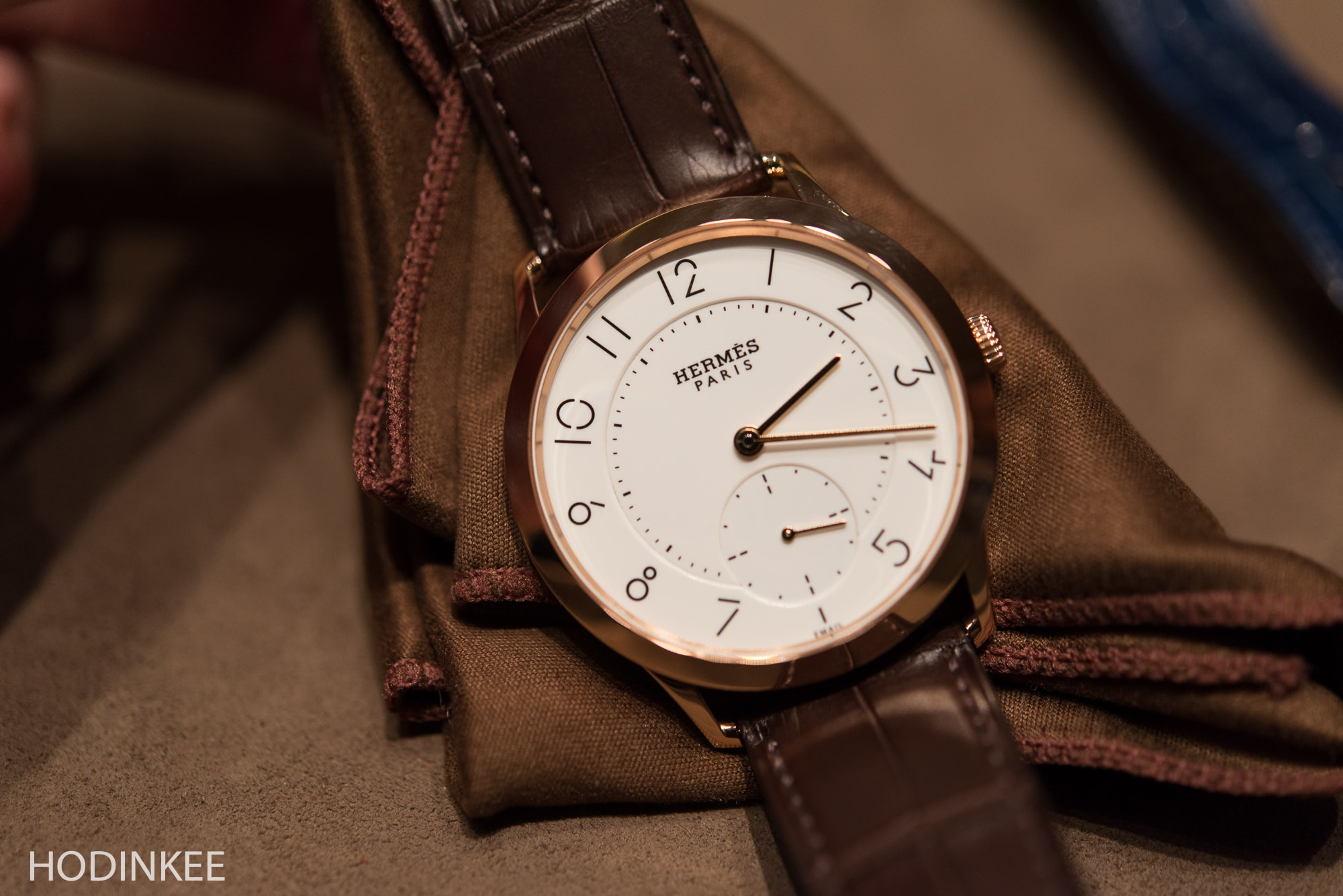 slim d'hermes with enamel dial Editorial: Cara's Favorite Watches From Baselworld 2016 Editorial: Cara's Favorite Watches From Baselworld 2016 SlimdHermesEnamel 13