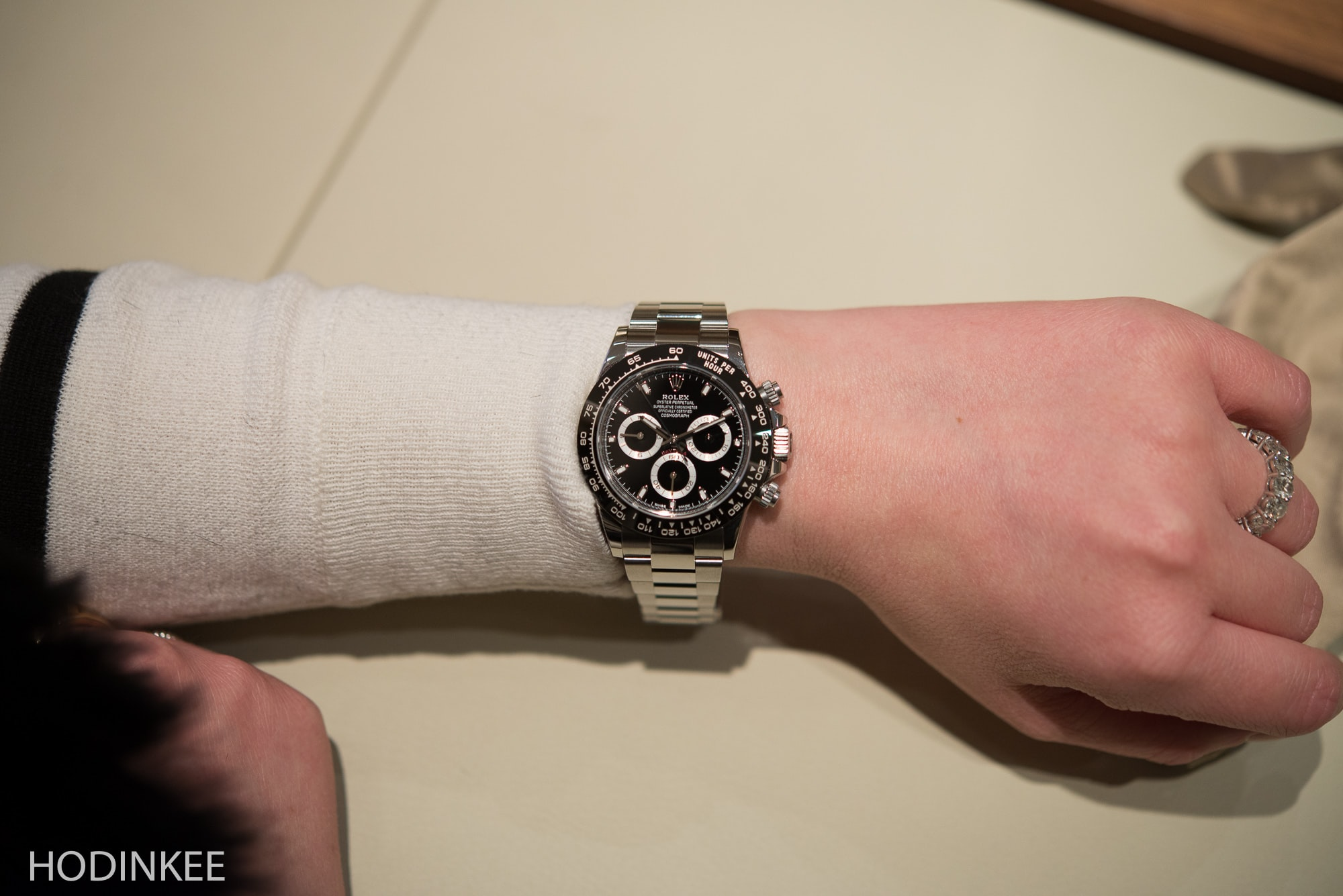 Rolex Daytona Cosmograph Black Editorial: Cara's Favorite Watches From Baselworld 2016 Editorial: Cara's Favorite Watches From Baselworld 2016 RolexDaytona116500LN 3