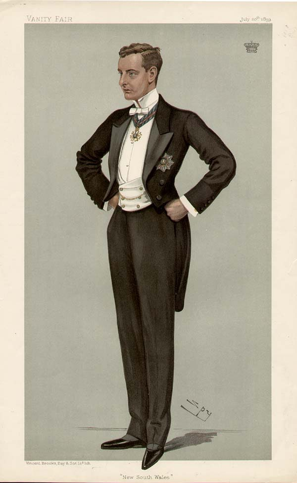 Gentleman in white tie, 1899, Vanity Fair