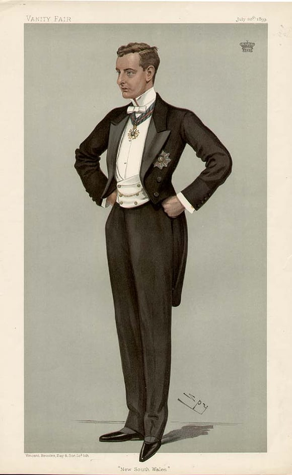 Gentleman in white tie, 1899, Vanity Fair White Tie, Black Tie, And Watches: Is It Ever Okay To Wear A Watch With A Tux? White Tie, Black Tie, And Watches: Is It Ever Okay To Wear A Watch With A Tux? Beauchamp7