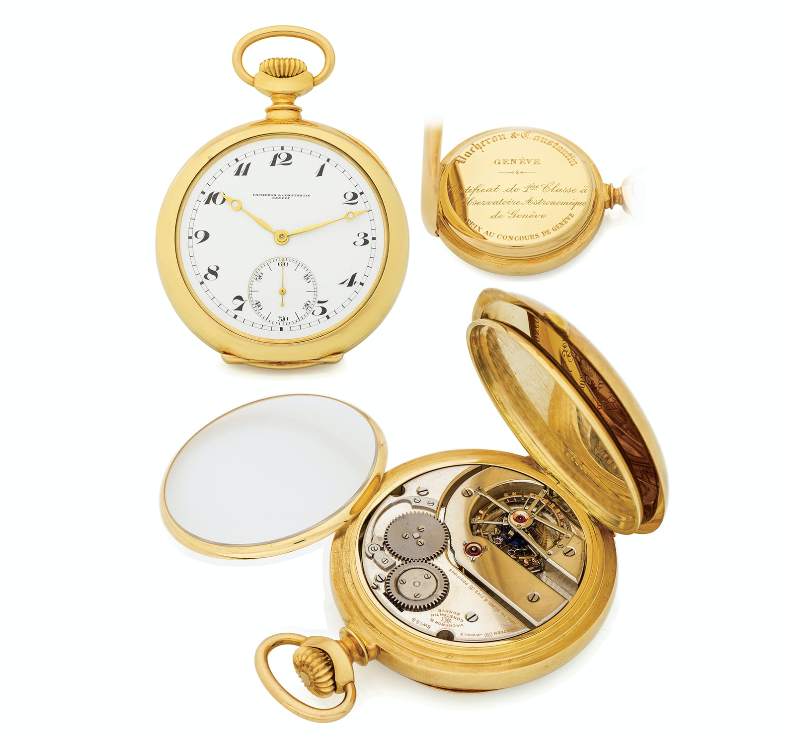 Vacheron Observatory Pocket Tourbillon  Seven Pocket Watches That Will Make You Forget Wristwatches (And Wonder Why They've Gotten So Pricey) From The Antiquorum 'Important Modern & Vintage Timepieces' Auction Seven Pocket Watches That Will Make You Forget Wristwatches (And Wonder Why They've Gotten So Pricey) From The Antiquorum 'Important Modern & Vintage Timepieces' Auction b2