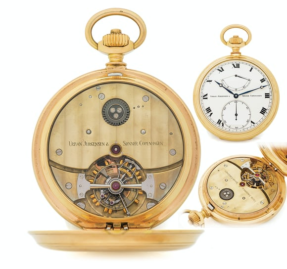 Derek Pratt Tourbillon with bimetallic balance Seven Pocket Watches That Will Make You Forget Wristwatches (And Wonder Why They've Gotten So Pricey) From The Antiquorum 'Important Modern & Vintage Timepieces' Auction Seven Pocket Watches That Will Make You Forget Wristwatches (And Wonder Why They've Gotten So Pricey) From The Antiquorum 'Important Modern & Vintage Timepieces' Auction g2