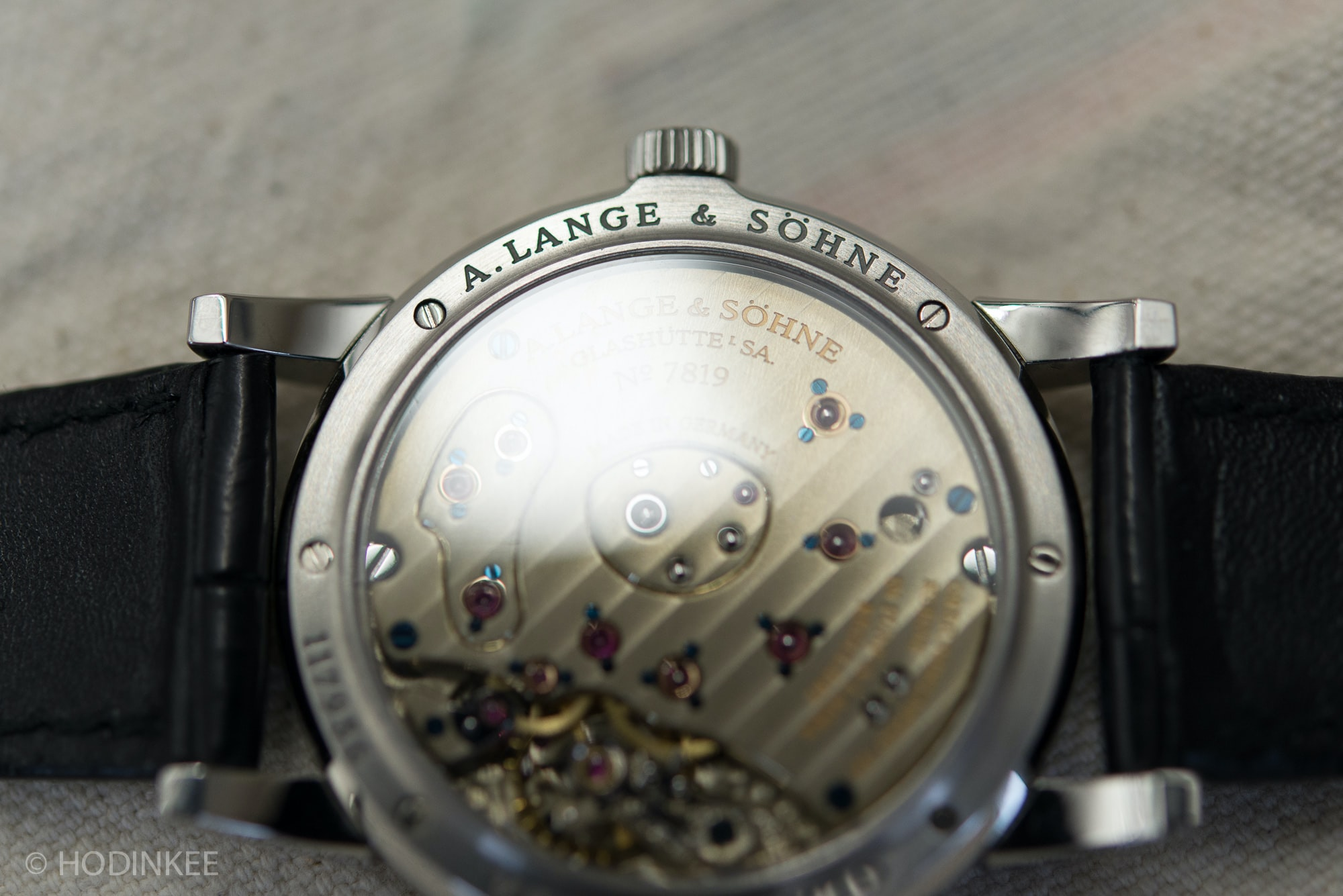 Breaking News: Christie's To Offer Mega Rare Steel Lange 1 With Black Dial In June (Live Pics, Estimates) Breaking News: Christie's To Offer Mega Rare Steel Lange 1 With Black Dial In June (Live Pics, Estimates) Lange1SteelBlackDial 3