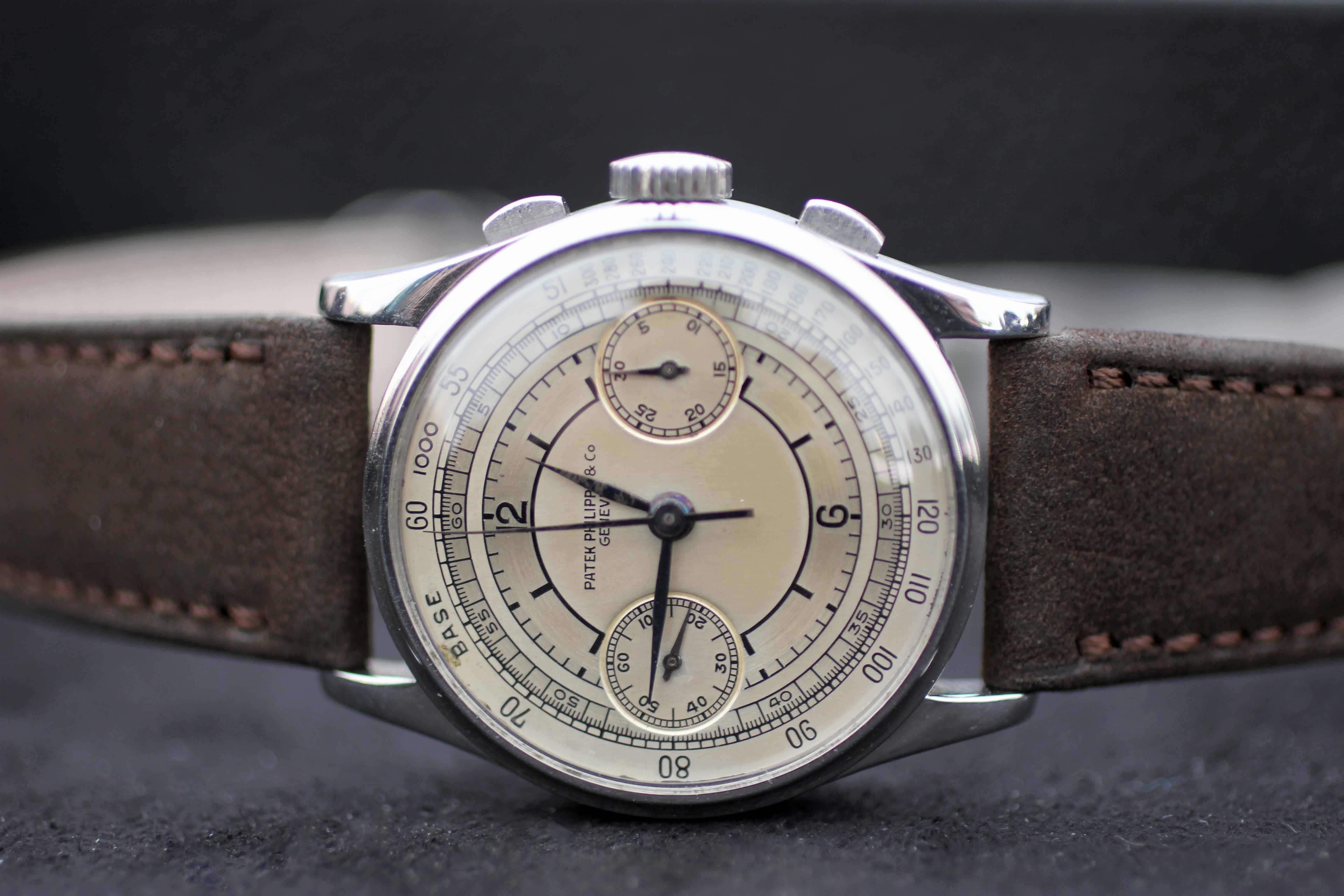 Lot 30: Patek Philippe 130; sold for CHF 725,000. Recapping The 88 Epic Stainless Steel Chronographs Sale At Phillips, A 100% Auction, With Several Massive Hits, Strong Showing From Niche Brands Recapping The 88 Epic Stainless Steel Chronographs Sale At Phillips, A 100% Auction, With Several Massive Hits, Strong Showing From Niche Brands IMG 8697